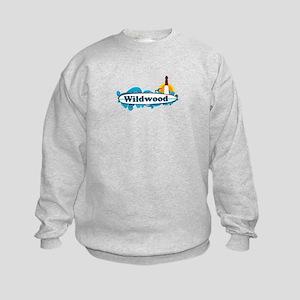 Wildwood NJ - Surf Design Kids Sweatshirt