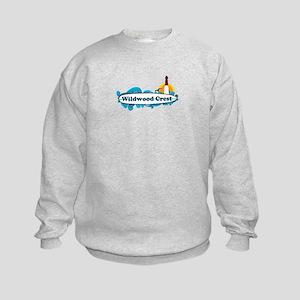 Wildwood Crest NJ - Surf Design Kids Sweatshirt