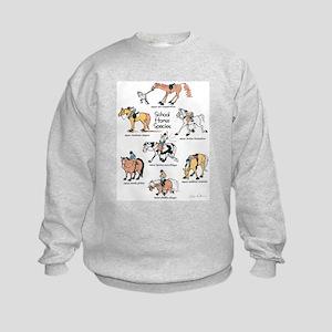 School Horse Species Kids Sweatshirt