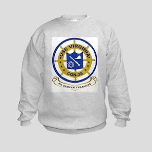 USS Virginia CGN 38 Kids Sweatshirt