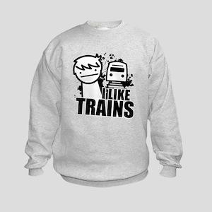I Like Trains! Kids Sweatshirt