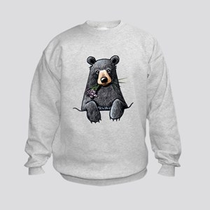 Pocket Black Bear Kids Sweatshirt