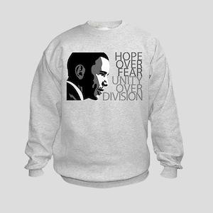 Obama - Hope Over Division - Grey Kids Sweatshirt