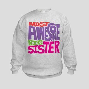 Awesome Big Sister Kids Sweatshirt