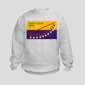 Tohono O'odham Flag Kids Sweatshirt