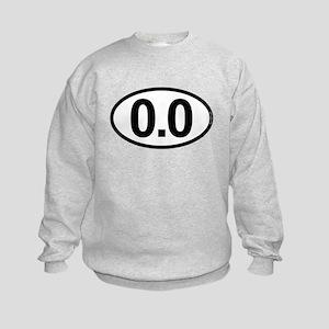 0.0 Zero Marathon Runner Kids Sweatshirt