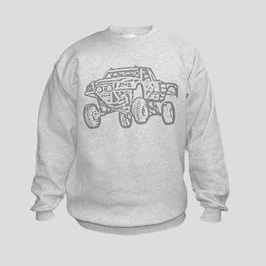 Off-Road Race Truck Grey Kids Sweatshirt