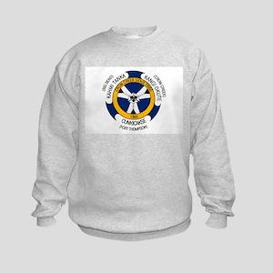 Crow Creek Sioux Flag Kids Sweatshirt