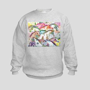 Wild Horse Herd Kids Sweatshirt
