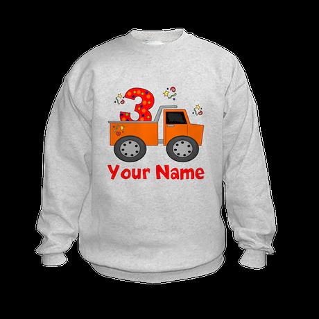3rd Birthday Dump Truck Kids Sweatshirt