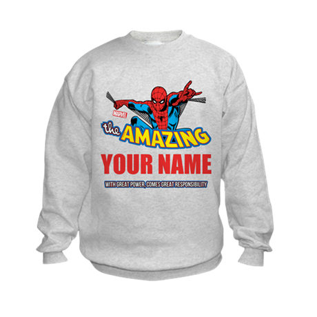 The Amazing Spider-man Personalize Kids Sweatshirt