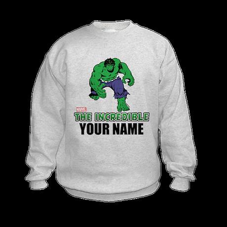 The Incredible Hulk Personalized D Kids Sweatshirt