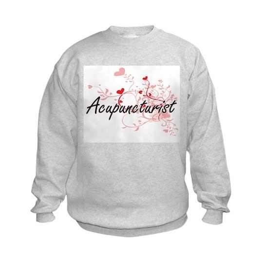 Acupuncturist Artistic Job Design with Hearts
