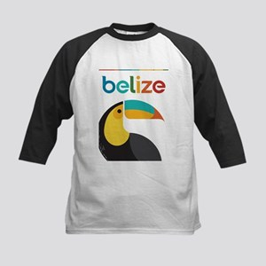 Belize Vintage Travel Poster with Toucan Kids Base