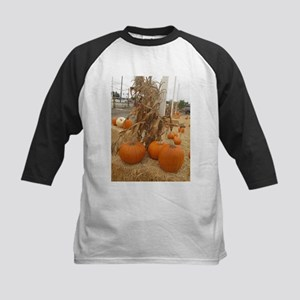 orange pumpkin stalk Baseball Jersey