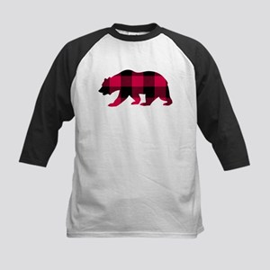 Buffalo Plaid Bear Baseball Jersey