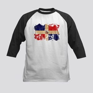 Dominican Republic Flag Kids Baseball Jersey