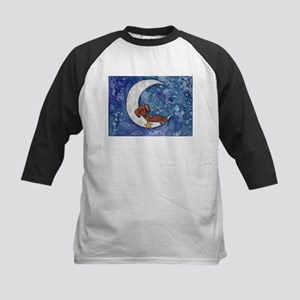 Dachshund on the Moon Baseball Jersey