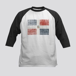 Dominican Republic Distressed Flag Baseball Jersey