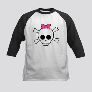 Skull and Crossbones Kids Baseball Tee