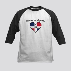 Dominican Republic Flag Heart Baseball Jersey