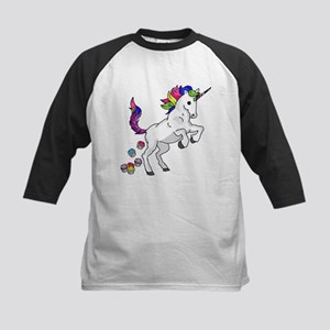 Unicorn Cupcakes Kids Baseball Tee
