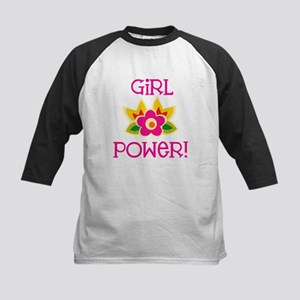 Flower Girl Power Kids Baseball Jersey