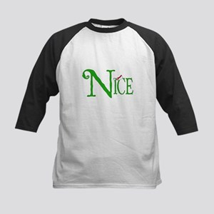 Nice for Christmas Kids Baseball Jersey
