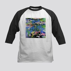 MONET WATERLILLIES Kids Baseball Jersey
