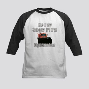 Heavy Snow Plow Operator Kids Baseball Jersey