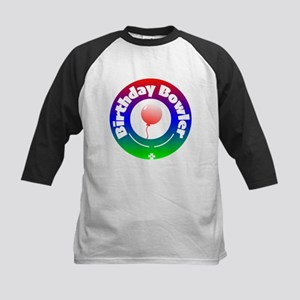 Birthday Bowler Kids Baseball Tee