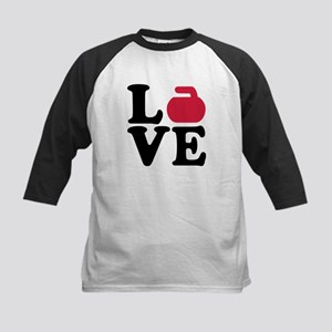 Curling love stone Kids Baseball Jersey