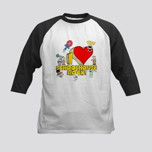 I Heart Schoolhouse Rock! Kids Baseball Jersey