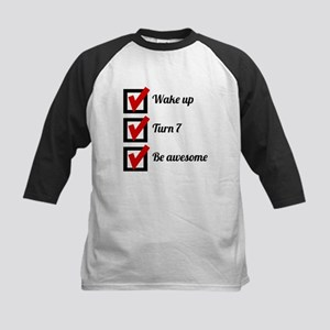 T Shirts Awesome 7th Birthday Checklist Baseball Jersey