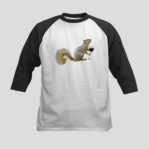 Squirrel with Wine Kids Baseball Jersey