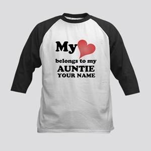 My Heart Belongs To My Auntie (Custom) Baseball Je