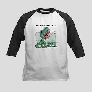 Personalizable T-Rex Kids Baseball Jersey