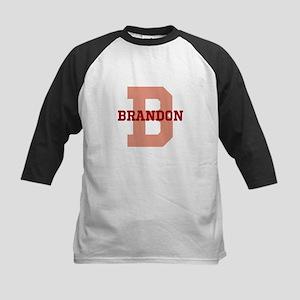 CUSTOM Initial and Name Red Kids Baseball Jersey