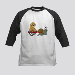 Snail Pulling Wagon with Sloth Baseball Jersey