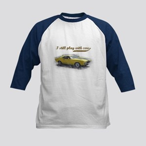 I still play with cars Kids Baseball Jersey