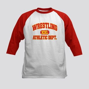 Wrestling Kids Baseball Jersey