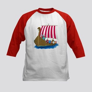 Viking Ship Kids Baseball Jersey