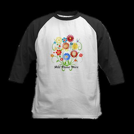 Personalized floral light Kids Baseball Jersey