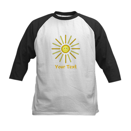Happy Summer Sun and Text. Kids Baseball Jersey