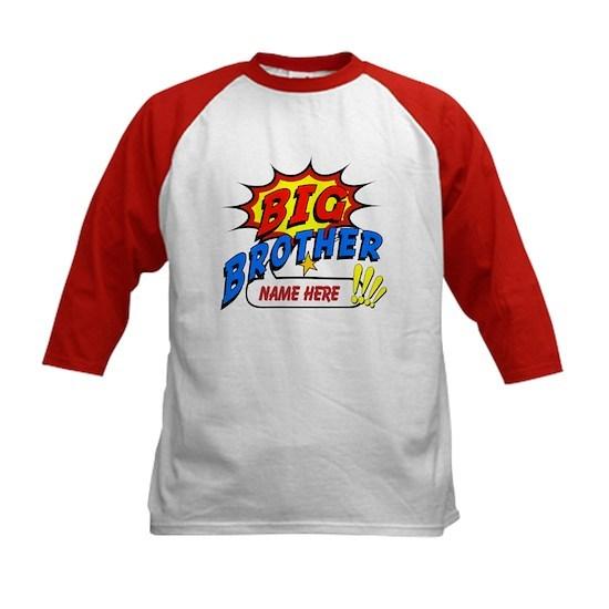 Big Brother Superhero Kids Kids Baseball Tee