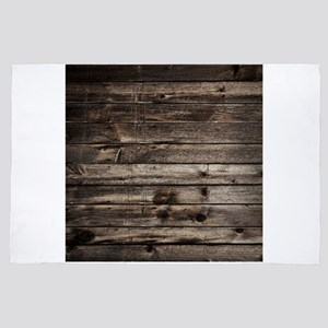 rustic primitive barn wood 4'x6' Area Rug