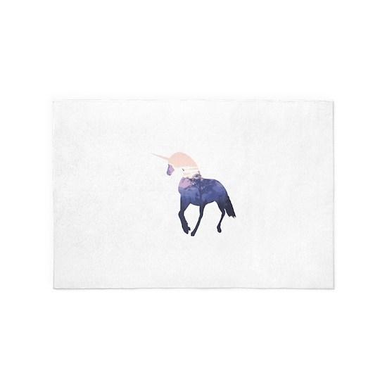 Double Exposure Unicorn with Landscape