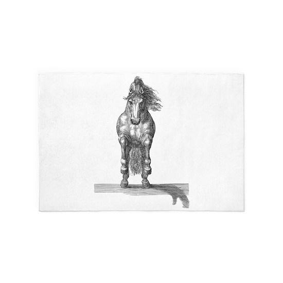 Charging horse