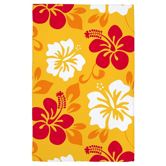 Yellow-red-orange-white Hawaiian Hibiscus