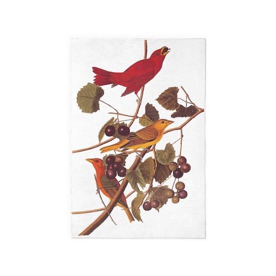 Summer Red Bird Vintage Audubon